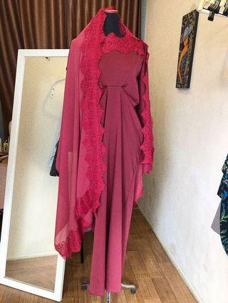 Long dress / kaftan lace
