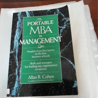 The Portable MBA in Management (Portable MBA (Wiley)) By Allan R. Cohen