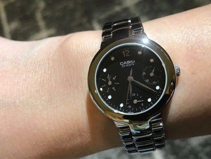 🚚 ❗️出清特價❗️全新 CASIO SHEEN 不鏽鋼鏈帶女錶