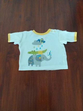 Mothercare elephant long sleeved shirt - 3 months