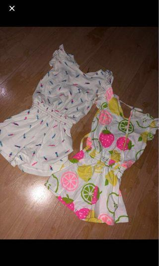 Bundle Summer Baby Rompers 18-24mos