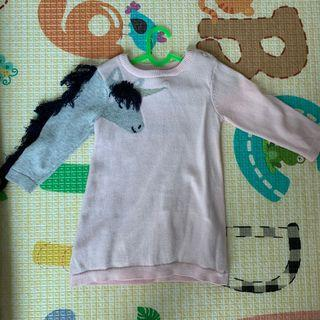 SEED babygirl dress 3-6 months unicorn