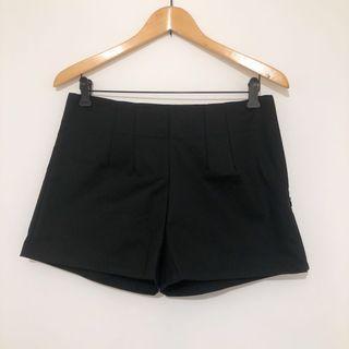 黑色高腰西裝顯瘦短褲 XL
