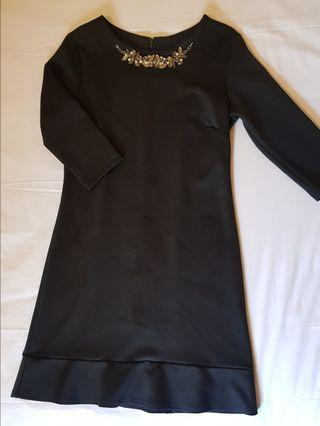 The Executive Scuba Black Dress