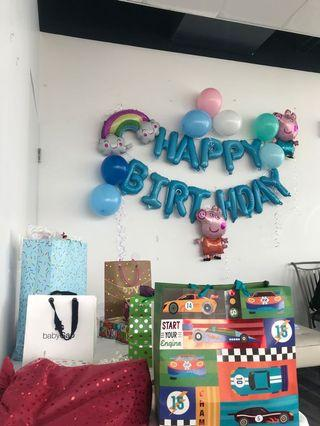 Peppa Pig and other Foil Balloons