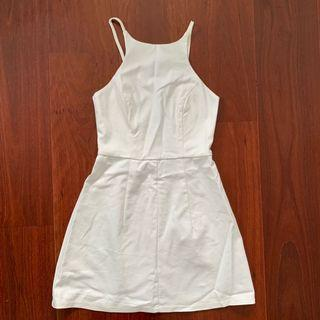 Luvalot White Low Back Mini Dress Size 6