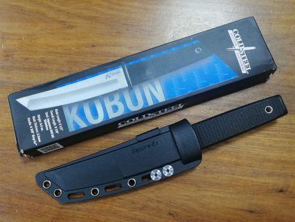 美國名廠 Cold Steel Kobun 戰術方頭戶外求生刀,露營刀,軍刀,直刀。