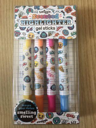 Smiggle Scented Highlighter Gel Sticks