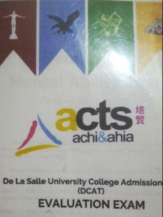 FOR CETS: ACTS DCAT Evaluation Exam
