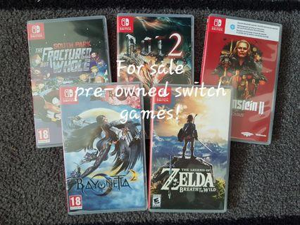 Pre-owned Switch Games