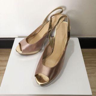 charles & keith rose gold platform sandal Heels
