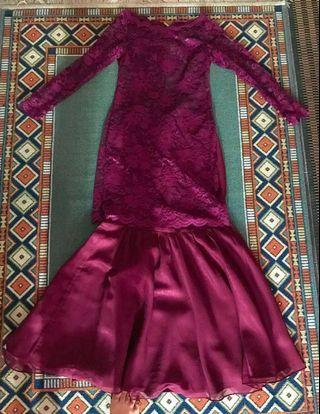 Lace Kurung Moden Custom Made With Corset