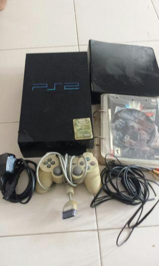 ps2 console and controller
