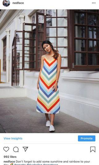 🚚 Love & Bravery Rainbow Dress