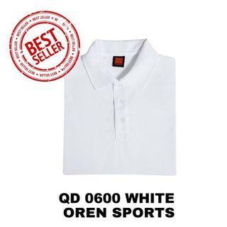 OREN SPORTS White Polo Tee Shirt