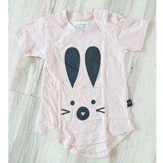 Hux Baby - pink rabbit top