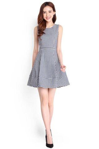 Clearance! Lilypirates LP Sweet Escape Skater Dress Gingham Black S