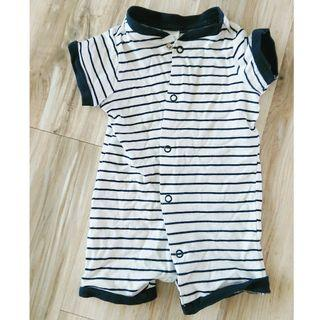 H&M baby stripes romper (size 56, for 1-2 mth)
