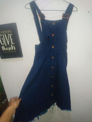 Denim dress model A