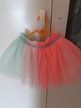 Tutu Skirt rainbow carter