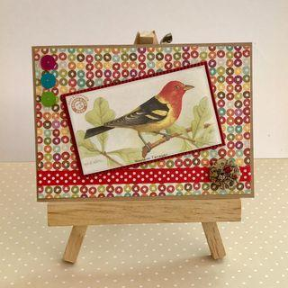 Handmade Card - Bird