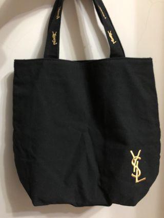 🚚 YSL/ysl金色刺繡厚實托特包/帆布包/手提包/買來放著沒用