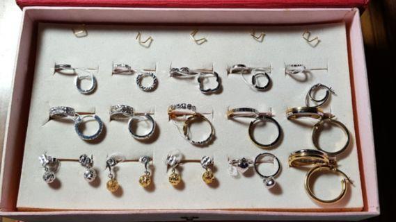 18K White Gold/2 colour Earrings(non nego)