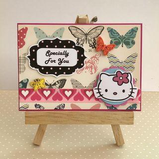 Handmade Card - Hello Kitty - Specially for you