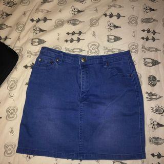 Dollygirl denim skirt (size 10) fits s-m