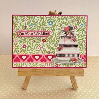 Handmade Card - Wedding Cake