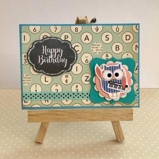 Handmade Card - Owl - Happy Birthday
