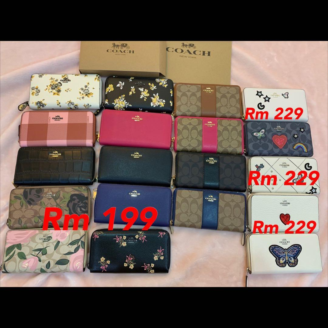 (12/05/19) Authentic Coach men wallet handbag purse backpack belt wallet raya promotion
