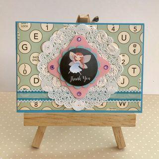 🚚 Handmade Card - Fairy - Thank You