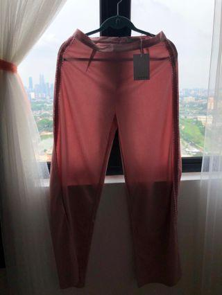 LUBNA straight cut pants with side ribbons