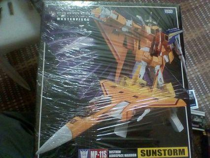 Transformers mp 11s sun storm bib with coin