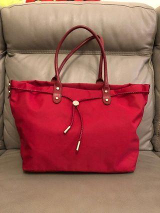 Agnes B  Red Tote Bag