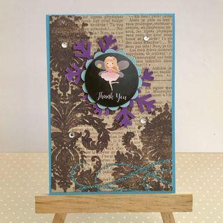 Handmade Card - Fairy - Thank You