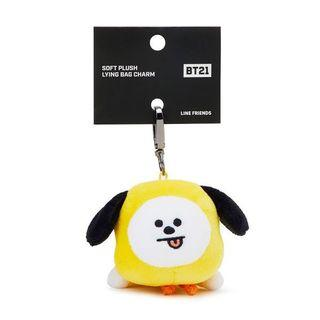 🚚 (instock) bt21 official authentic chimmy lying bag charm