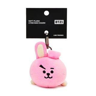 (instock) bt21 official authentic cooky lying bag charm