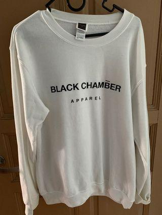 Black chamber apparel pullover