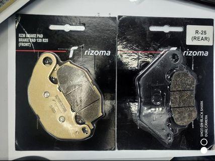 Rizoma Brake Pad Original Yamaha R25 1 Set Rear & Front