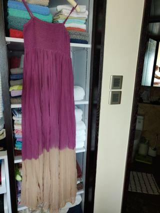 Silk Purple long dress