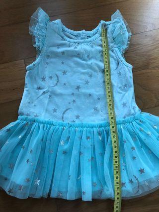 Gap baby blue dress 3-6m
