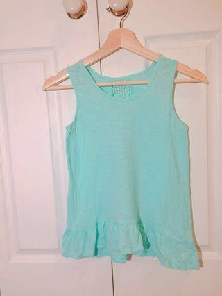 ♡ Teal tank top with lace backing detail