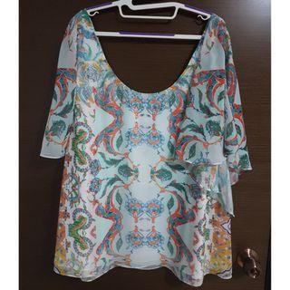 🚚 NWT City Chic Casablanca Short Sleeve Top Plus Size XL/22