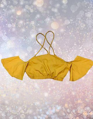 Mustard Cropped Top