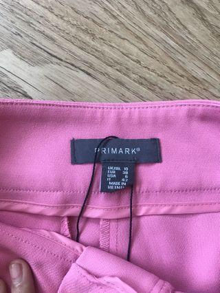 🚚 BN PRIMARK Hot Neon Fluorescent Pink Tailored Pants