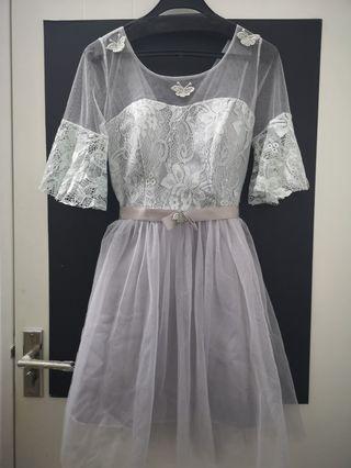 Grey Bridesmaid Dress XL
