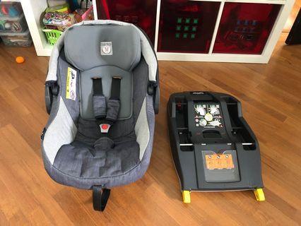 Peg Perego Infant car seat + isofix base