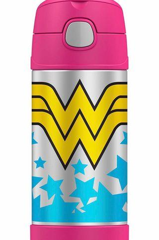 Thermos Funtainer 12 Ounce Bottle straw thermal flask 12 oz Wonder Woman